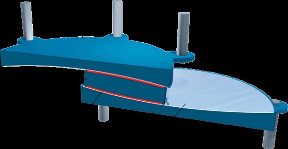 اجزای جداساز لرزه ای پاندولی اصططکاکی fps